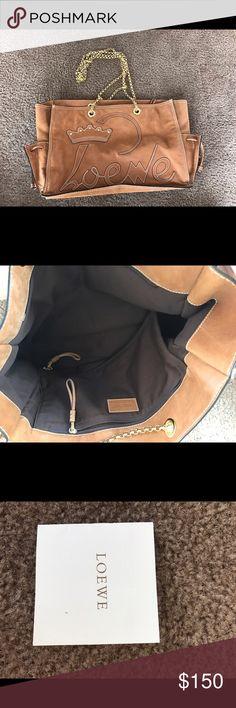 LOEWE BAG. NEW never used before Loewe bag brown and gold, new with the certificate Loewe Bags