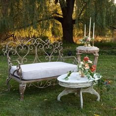 Vintage Style Lounge Furniture would be great along the path to the reception.