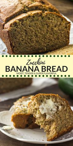 Zucchini banana bread is ultra moist, extra tender and the most flavorful banana. - Zucchini banana bread is ultra moist, extra tender and the most flavorful banana bread you'll eat - Gourmet Recipes, Dessert Recipes, Cooking Recipes, Desserts, Healthy Cooking, Healthy Food, Healthy Eating, Zucchini Bread Recipes, Banana Bread Recipes