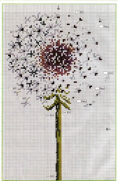 dandelion cross stitch pattern to do