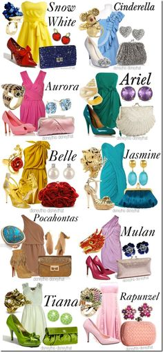 Disney Princess Outfits Updated
