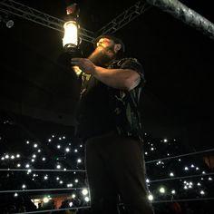 """It doesn't matter where...the #fireflies follow Bray Wyatt wherever he goes. #WWEMontgomery #FollowTheBuzzards"""