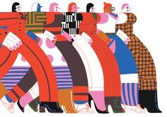 Vrij Nederland by Shop Around / Editorial illustrations / Client: Weekbladpers / Illustration: Zeloot People Illustration, Retro Illustration, Portrait Illustration, Character Illustration, Up Book, Art Plastique, Vector Art, Illustrators, Street Art