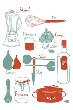 Cool Print!   Tools of the Trade Print   by claudiagpearson @Etsy