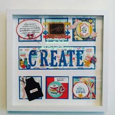 Follow Your Art Suite Sampler – Mi Starlight Stamping Framed Scrapbook Paper, Wall Boards, Boxes And Bows, Craft Room Decor, Shadow Box Frames, Collage Frames, 3d Projects, Paper Decorations, Craft Fairs