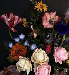 fiori in porcellana fredda modellati e dipinti a mano Cold Porcelain Flowers, Floral Wreath, Wreaths, Vogue, Painting, Archive, Nice, Decor, Art