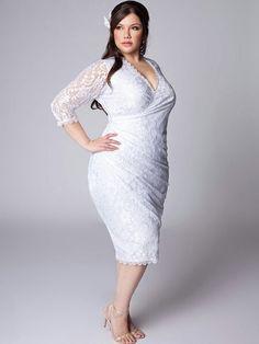 7 Gorgeous Short Plus Size Summer Wedding Dresses: Beautifully ...