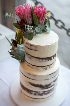 23 New ideas wedding food vegetarian birthday cakes Protea Wedding, Wedding Cake Fresh Flowers, Wedding Cake Rustic, Wedding Cakes, Wedding Cake Inspiration, Wedding Ideas, Trendy Wedding, Engagement Cakes, Just Cakes