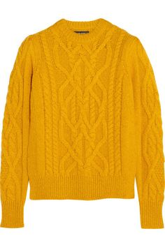 Love the cables and the color of this Isabel Marant sweater.  It's just a shame it doesn't have side seams!