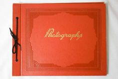 Vintage red photo album. - Cover measures 13.5x10.5 - Cover shows minimal wear. - Pages are unused.