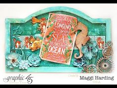 Scrap, Travel, and Bark!: Tutorial for a fun G 45 Voyage Beneath the Sea wall hanging Scrapbook Examples, Card Making Templates, Making Cards, Scrapbook Box, Beneath The Sea, Graphic 45, Journal Covers, Mixed Media Canvas, Scrapbooking Layouts