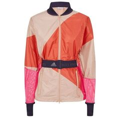Adidas By Stella McCartney Kite Print Running Jacket ($175) ❤ liked on Polyvore featuring activewear, activewear jackets, adidas sportswear, adidas activewear and adidas