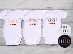 Triplets baby shower gift triplets clothing triplets gift triplet clothing omg yes we are triplets funny set of 3 matching bodysuits triplet baby shower triplet gifts more colors available negle Images