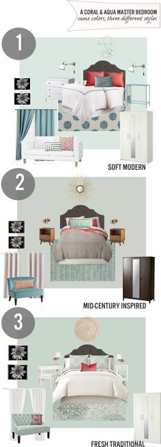 about bedrooms on pinterest coral bedroom aqua and different styles