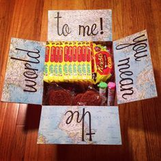 Care Package I made for Zac!! He LOVED it!