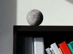 3-D printed moon with surface detail. How cool would it be to set up lighting that moves in real time?!