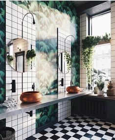 Trendy bathroom plants no sunlight small 56 Ideas Eclectic Bathroom, Boho Bathroom, Bathroom Styling, Bathroom Interior, Bathroom Remodeling, Remodeling Ideas, Bathroom Ideas, Jungle Bathroom, Bathroom Small