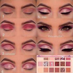 Gorgeous Makeup: Tips and Tricks With Eye Makeup and Eyeshadow – Makeup Design Ideas Huda Beauty Eyeshadow, Huda Beauty Makeup, Beauty Make-up, Nude Makeup, Nude Eyeshadow, Eye Makeup Steps, Makeup Eye Looks, Mascara Hacks, Make Up Designs