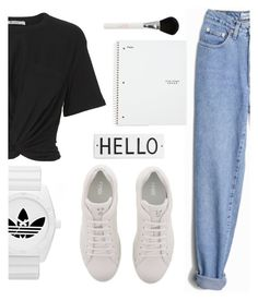 """-2-"" by haziel-damaris ❤ liked on Polyvore featuring T By Alexander Wang, Fendi, Rosanna, Five Star and adidas"