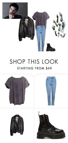 """""""i'm gonna wait right here"""" by stremilie ❤ liked on Polyvore featuring ATG, Topshop, Yves Saint Laurent and Dr. Martens"""