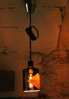 Lámpara botella Ginebra HENDRICK'S / HENDRICK'S Gin Bottle lamp