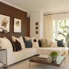 Modern Family Room Accent Wall Design Pictures Remodel Decor And Ideas Brown