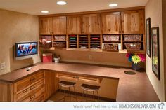 15 Ideas in Designing Your Home's Craft Room | Home Design Lover