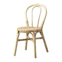 IKEA - VIKTIGT, Silla, Cada mueble es único, ya que está hecho a mano.Los muebles fabricados con fibra natural son ligeros y, al mismo tiempo, resistentes y duraderos.Las sillas se pueden apilar para ahorrar espacio cuando no las utilizas.