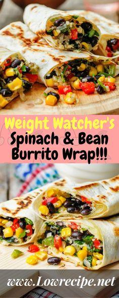 Weight Watcher's Spinach & Bean Burrito Wrap!!! - Low Recipe