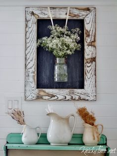 DIY Farmhouse Style Decor Ideas - DIY Farmhouse Rustic Wooden Frame - Rustic Ideas for Furniture, Paint Colors, Farm House Decoration for Living Room, Kitchen and Bedroom diyjoy.com/...