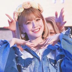 Image shared by Find images and videos about kpop, white and blue on We Heart It - the app to get lost in what you love. Cute Korean, Image Sharing, Flower Crown, Videos, Find Image, Cute Girls, Kpop, Angel, Flower Headdress