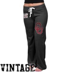 Oklahoma Sooners Womens Relaxed Sweatpants - Black