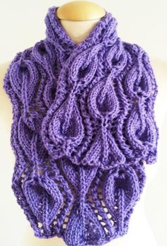 Looking for your next project? You're going to love Leaf Lilac Scarf Cowl  by designer Giezen Knitting. - via @Craftsy