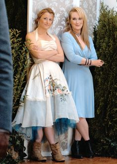 """With daughter and co-star  Mamie Gummer  ~ """"Ricki and the Flash"""" (2015)"""