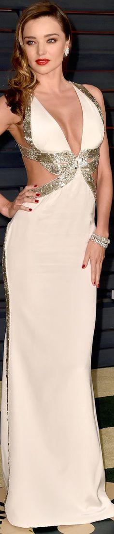 Miranda Kerr 2015 Vanity Fair Oscar Party / I love her style.