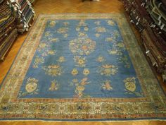 RARE ANTIQUE ART DECO OUSHAK RUG 12' x 14' Bank Forclosed for SALE