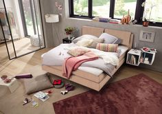 #rosequarz #interiordesign #boxspring #bed #bedroom #now!byhuelsta #hulsta #now!boxspring