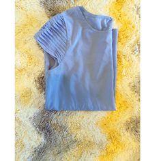 DALIA Light Blue Top Light Blue | Detailed Sleeves | Top Dalia Tops Blouses