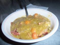 Crockpot Split Pea Soup, super easy for a busy fall day!