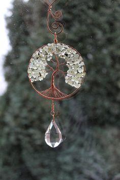 Gemstone Copper Tree Of Life Crystal by ElementalRoseDesigns