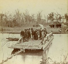 0670-031 Crossing ferry Red River, Fort Abercrombie, DT by State Historical Society of North Dakota, via Flickr
