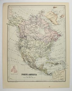 old north america map south africa map 1875 johnston map vintage decor map north america old world decor gift under 20 africa gift available from
