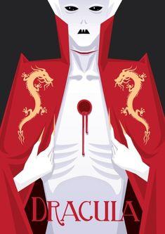 Dracula by trzecipromien on DeviantArt Dracula Film, Bram Stoker's Dracula, Abraham Van Helsing, Poster Minimalista, Horror Fiction, Horror Films, Beautiful Dark Art, Vampire Art, World Of Darkness