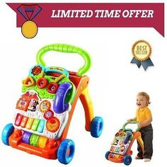 Baby Walker by VTech Sit-to-Stand Toddler Learning. Frustration Free Packaging