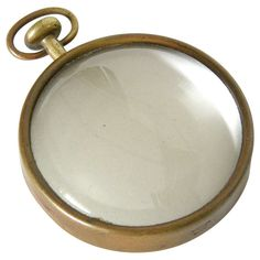 Carl Aubock Pocket Watch Magnifying Glass | From a unique collection of antique and modern decorative objects at http://www.1stdibs.com/furniture/more-furniture-collectibles/decorative-objects/