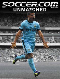 Kun Aguero on October's cover ! #soccerdotcom #soccer #futbol #football #argentina #puma #manchestercity