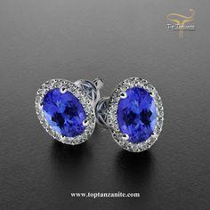 Get this beautiful pair of #tanzaniteEarings online at toptanzanite.com.