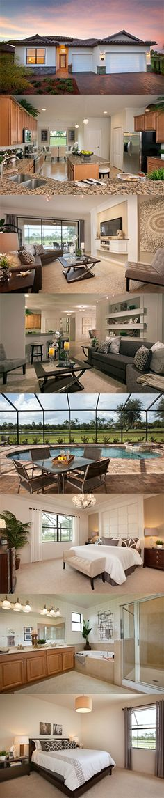 The Tivoli features 2,267 square feet, 4 bedrooms, 3 bathrooms, an open concept flooplan and 3 car garage. Built by Lennar Southwest Florida in Fort Meyers, it's in the perfect location to enjoy shopping and all that Florida has to offer! #Florida #dreamhome