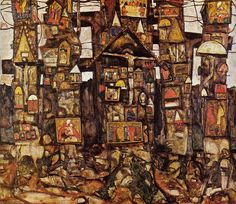 Woodland Prayer, 1915, Egon Schiele