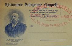 An old postcard which show the moustached, rubicund face of the owner Alfonso Cappelli
